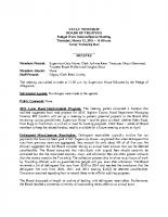 March 12 2015 Budget Workshop Minutes