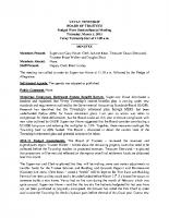 March 5 2015 Budget Workshop Minutes