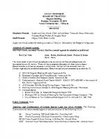 November 2014 BOT Minutes
