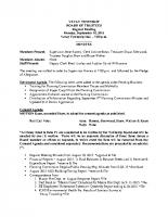September 2015 BOT Minutes