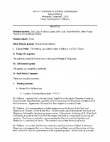 December 2 2015 PC special meeting minutes
