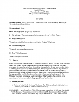 January 27 2016 PC special meeting minutes