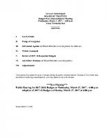 Budget 17-18 Wk Session Agenda 3-1-17