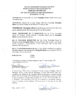 Resolution 17-04 Recognition of Douglas Shaw