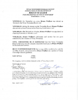 Resolution 17-05 Recognition of Bruce Walker