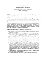 RESOLUTION 18-02 Poverty Guidelines