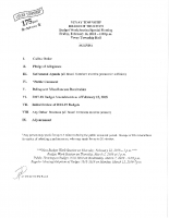 BOT Budget Work Session Agenda 2-16-18