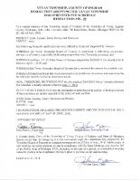 Resolution 18-09 Fee Schedule