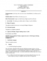 August 8 2018 Planning Commission minutes