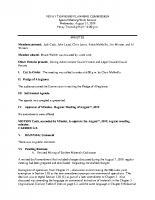 August 21 2019 Planning Commission minutes