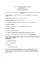 August 7 2019 Planning Commission minutes