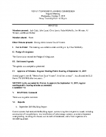 October 9 2019 Planning Commission minutes