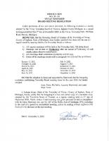 Resolution 20-11 BOT Meeting Dates